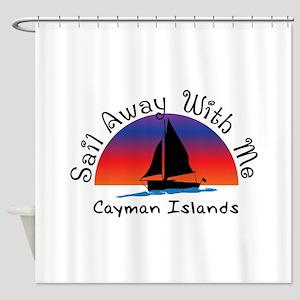 Sail Away with meCayman Islands Shower Curtain