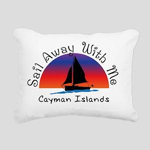 Sail Away with meCayman Rectangular Canvas Pillow