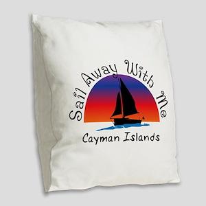 Sail Away with meCayman Island Burlap Throw Pillow