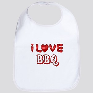 I Love BBQ Baby Bib