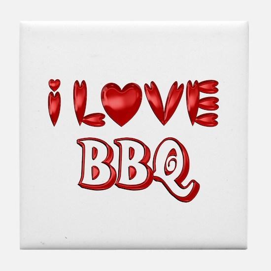 I Love BBQ Tile Coaster