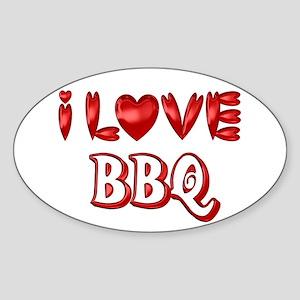 I Love BBQ Sticker