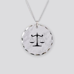 Scales of Justice Necklace Circle Charm