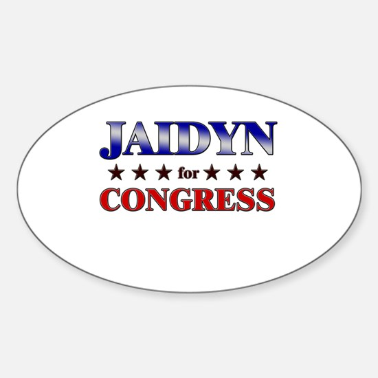 JAIDYN for congress Oval Decal
