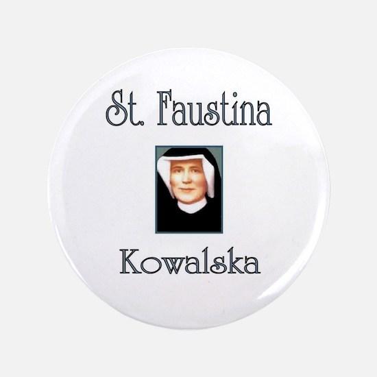 "St. Faustina Kowalska 3.5"" Button"