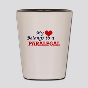 My heart belongs to a Paralegal Shot Glass