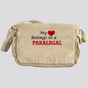 My heart belongs to a Paralegal Messenger Bag