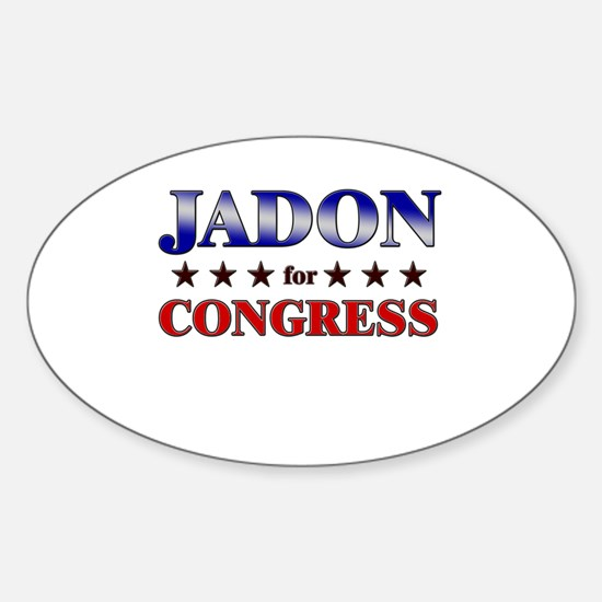 JADON for congress Oval Decal