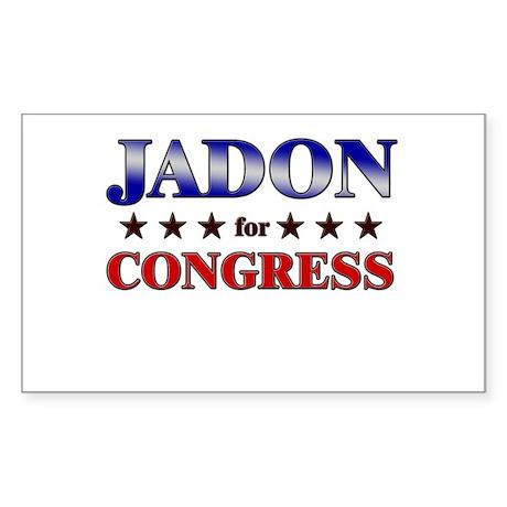 JADON for congress Rectangle Sticker