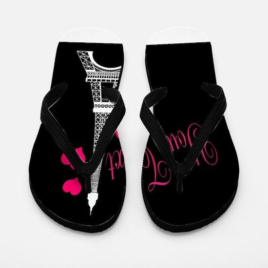 Paris France Eiffel Tower Flip Flops