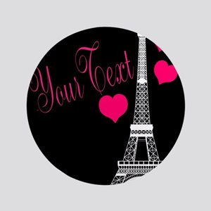 Paris France Eiffel Tower Button