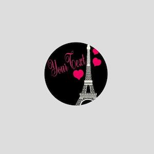 Paris France Eiffel Tower Mini Button