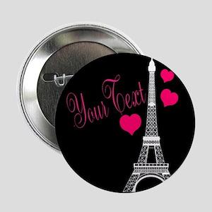 """Paris France Eiffel Tower 2.25"""" Button"""
