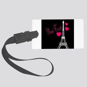 Paris France Eiffel Tower Luggage Tag