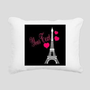Paris France Eiffel Tower Rectangular Canvas Pillo