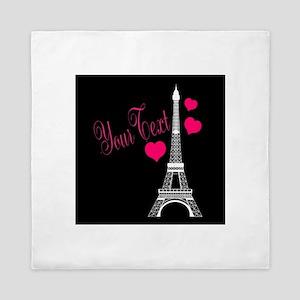 Paris France Eiffel Tower Queen Duvet