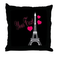 Paris France Eiffel Tower Throw Pillow