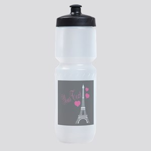 Paris France Eiffel Tower Sports Bottle