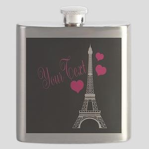 Paris France Eiffel Tower Flask