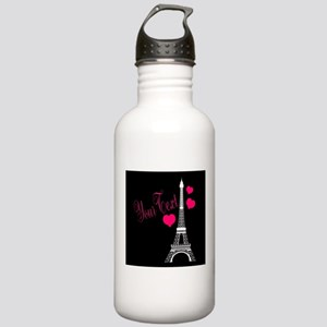Paris France Eiffel Tower Water Bottle