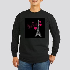 Paris France Eiffel Tower Long Sleeve T-Shirt