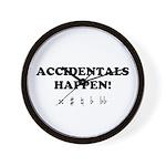 Accidentals Happen! Wall Clock