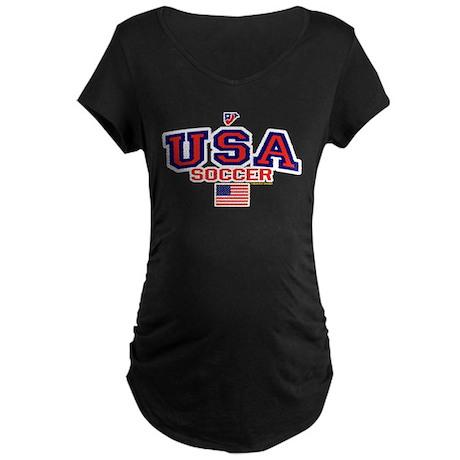 USA American Soccer Maternity Dark T-Shirt