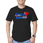 Cabo Verde Heart Men's Fitted T-Shirt (dark)