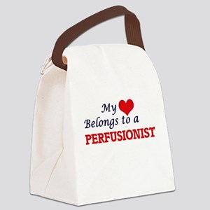 My heart belongs to a Perfusionis Canvas Lunch Bag