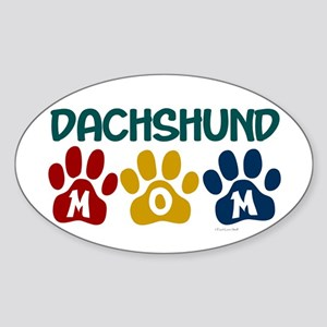 Dachshund Mom 1 Oval Sticker