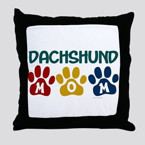 Dachshund Mom 1 Throw Pillow