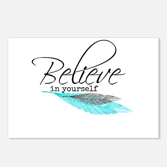 Believe quote Design Postcards (Package of 8)