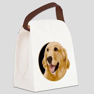 Golden Retriever Portrait Canvas Lunch Bag