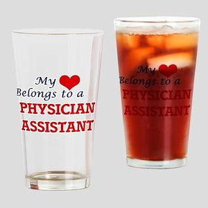 My heart belongs to a Physician Ass Drinking Glass