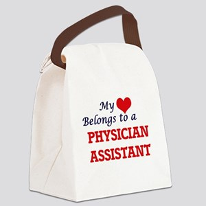 My heart belongs to a Physician A Canvas Lunch Bag
