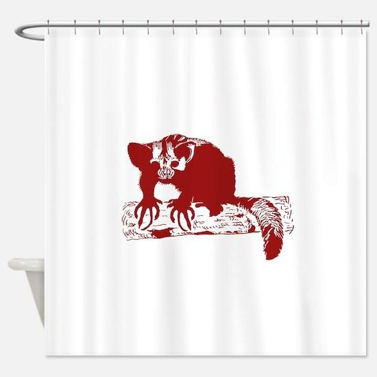 Red Lemur Shower Curtain