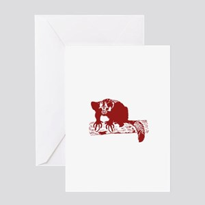 Red Lemur Greeting Cards
