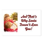 Santa Doesn't Love You Postcards (Package of 8)