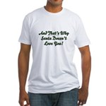 Santa Doesn't Love You Fitted T-Shirt
