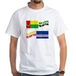 Cabo Verde Flags Embrace White T-Shirt