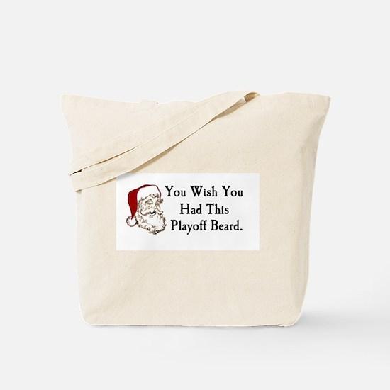 Santa's Playoff Beard Tote Bag