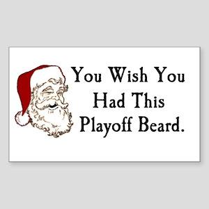Santa's Playoff Beard Rectangle Sticker