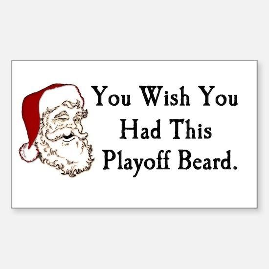 Santa's Playoff Beard Rectangle Decal