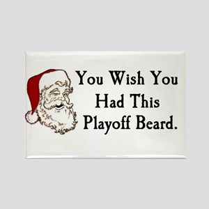 Santa's Playoff Beard Rectangle Magnet