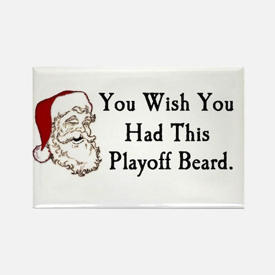 Santa's Playoff Beard Rectangle Magnet