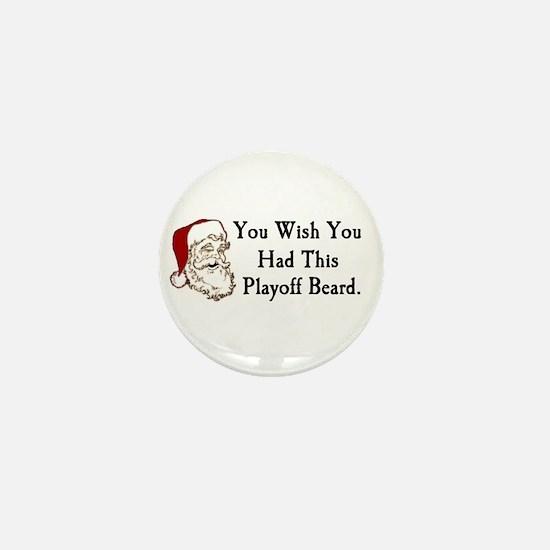 Santa's Playoff Beard Mini Button