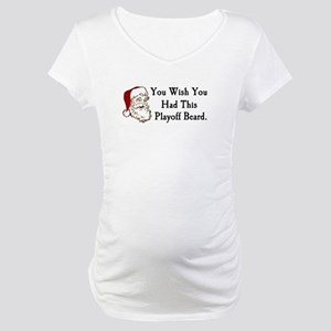 Santa's Playoff Beard Maternity T-Shirt