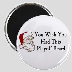Santa's Playoff Beard Magnet