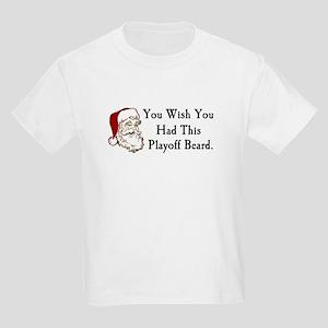Santa's Playoff Beard Kids Light T-Shirt