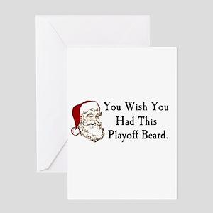 Santa's Playoff Beard Greeting Card